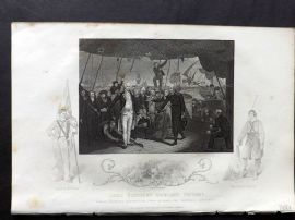 Tallis (Pub) 1854 Antique Print. Lord Viscount Duncan's Victory
